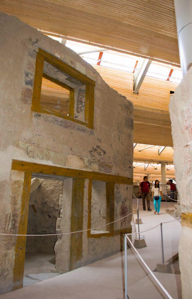 Museu de Akrotiri em Santorini
