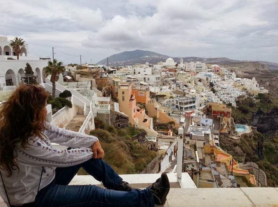 Uma Brasileira na ilha de Santorini