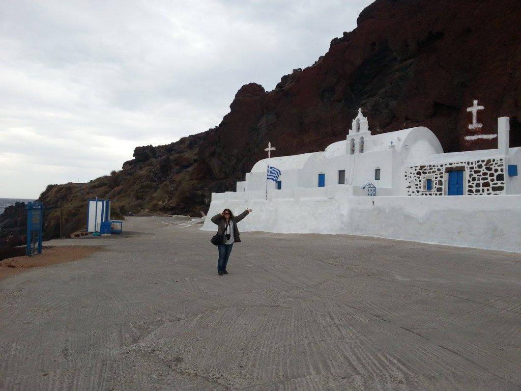 Virna Lize em Santorini