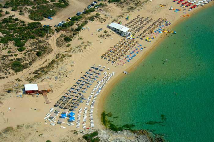 Praia Ammolofi em Kavala