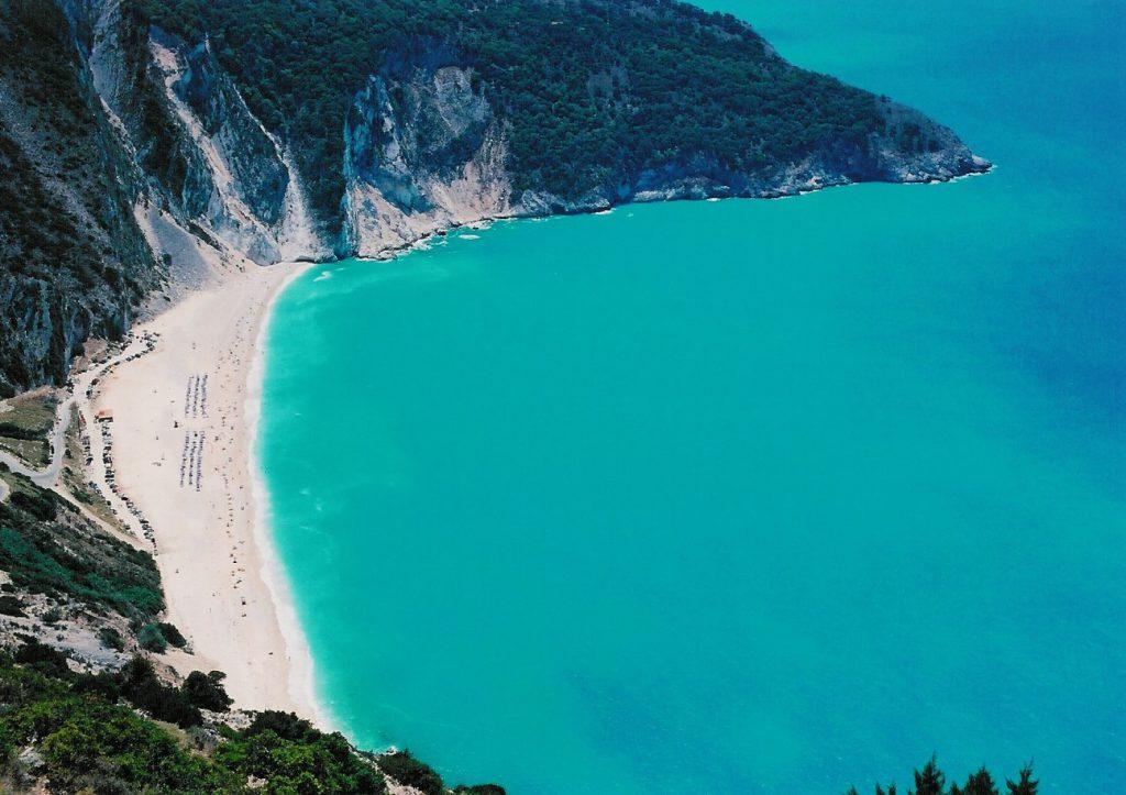 Praia Myrtos em Kefalonia