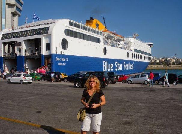 Uma Brasileira na Grécia viajando para as ilhas