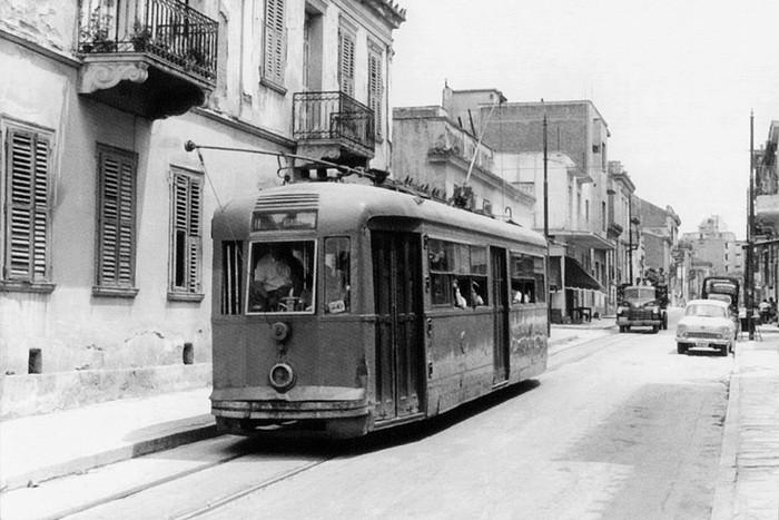Tram antigo de Atenas