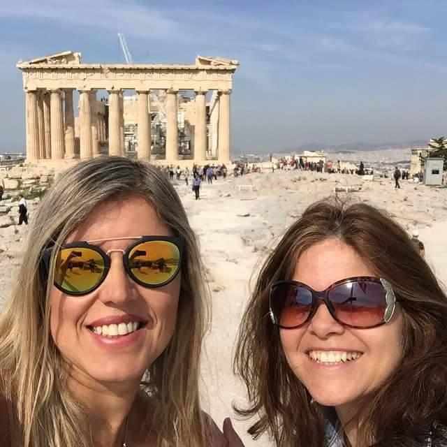 Claudia e Virna em Atenas