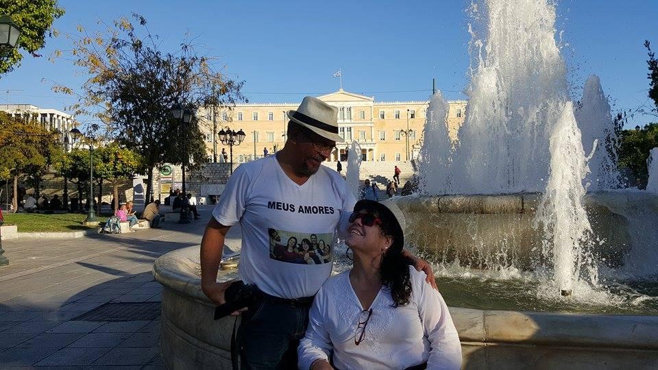 Tânia e Jose Carlos em Atenas