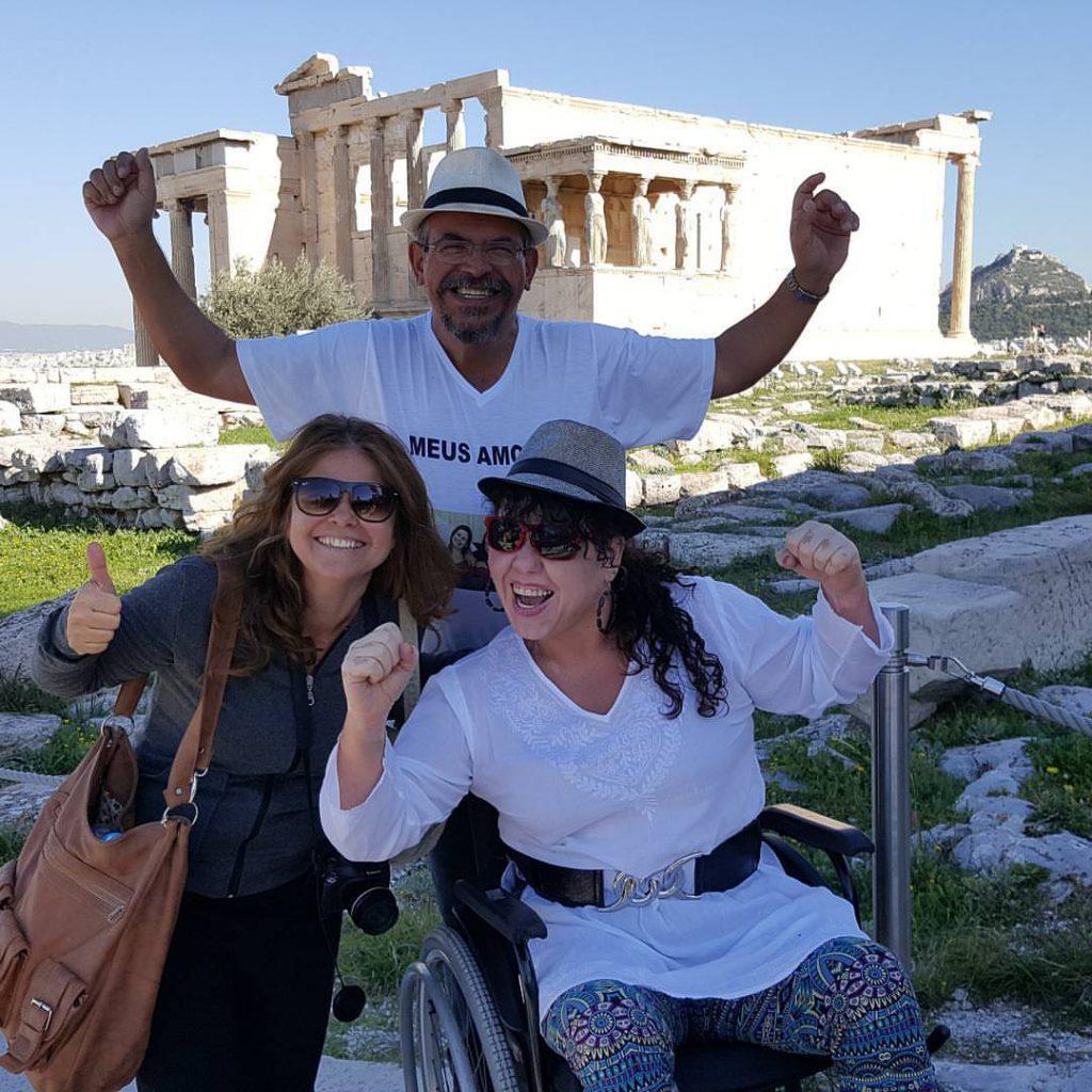 Tânia, Jose Carlos e Virna Lize na Acropolis