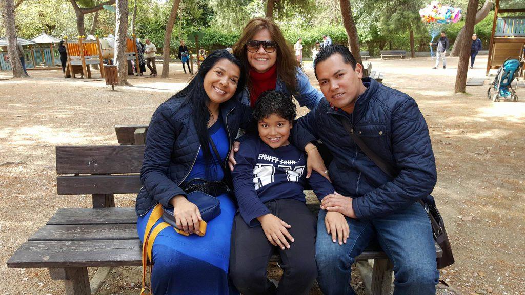 Família Campos em Atenas