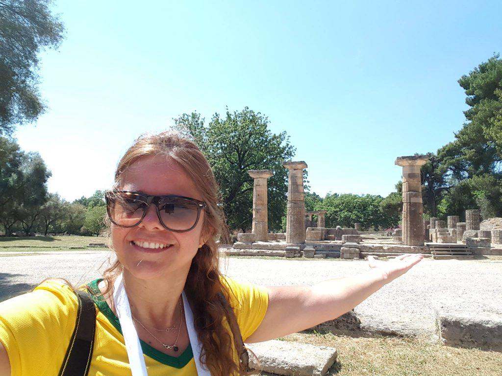 Templo de Hera - local exato onde acende a Chama Olímpica