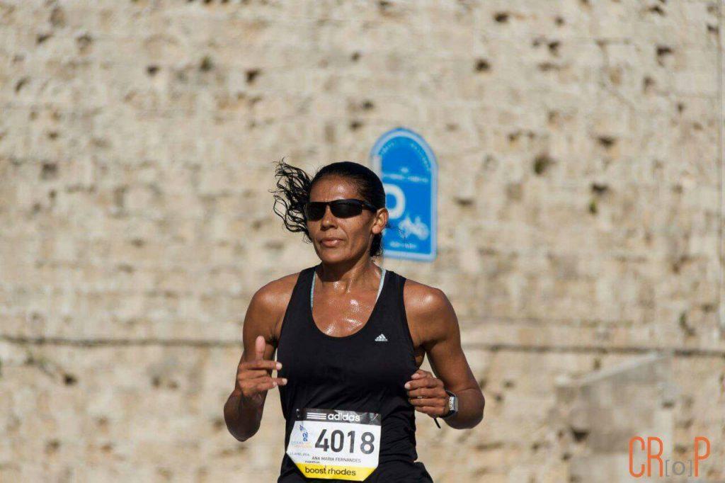 Maratona na ilha de Rhodes