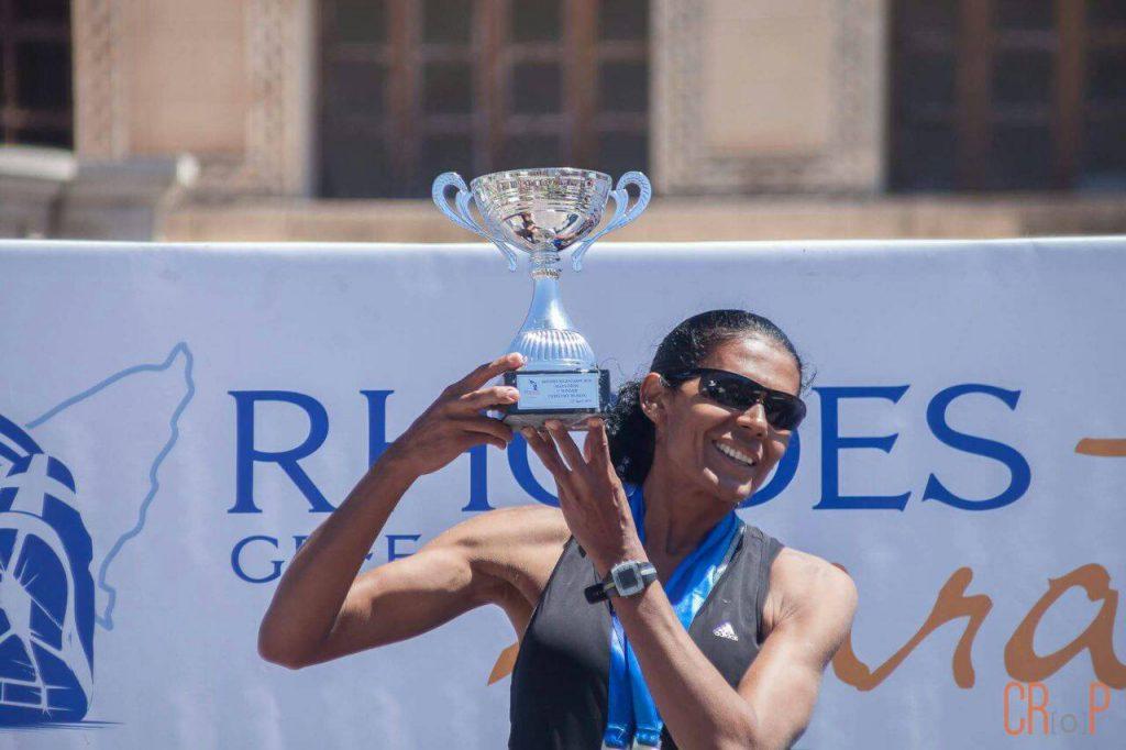 Ana Maria Reis na Maratona de Rhodes