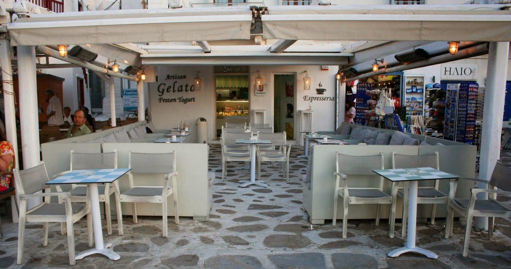 Cafeteria e Sorveteria Da Vinci em Mykonos