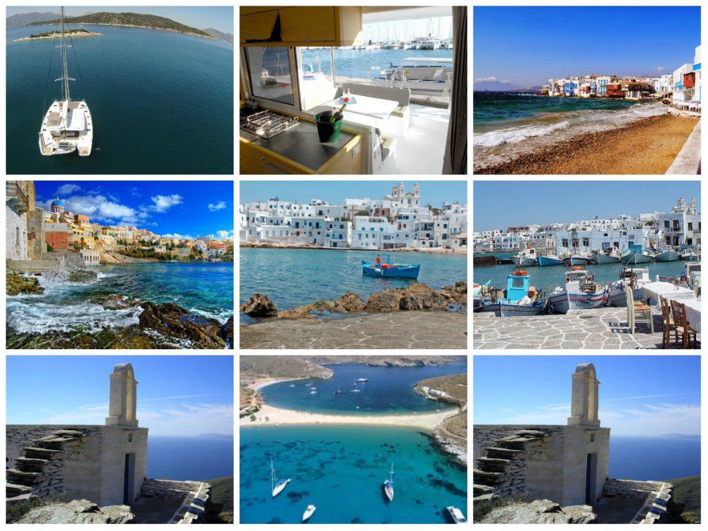 Passeio pelas ilhas Ciclades