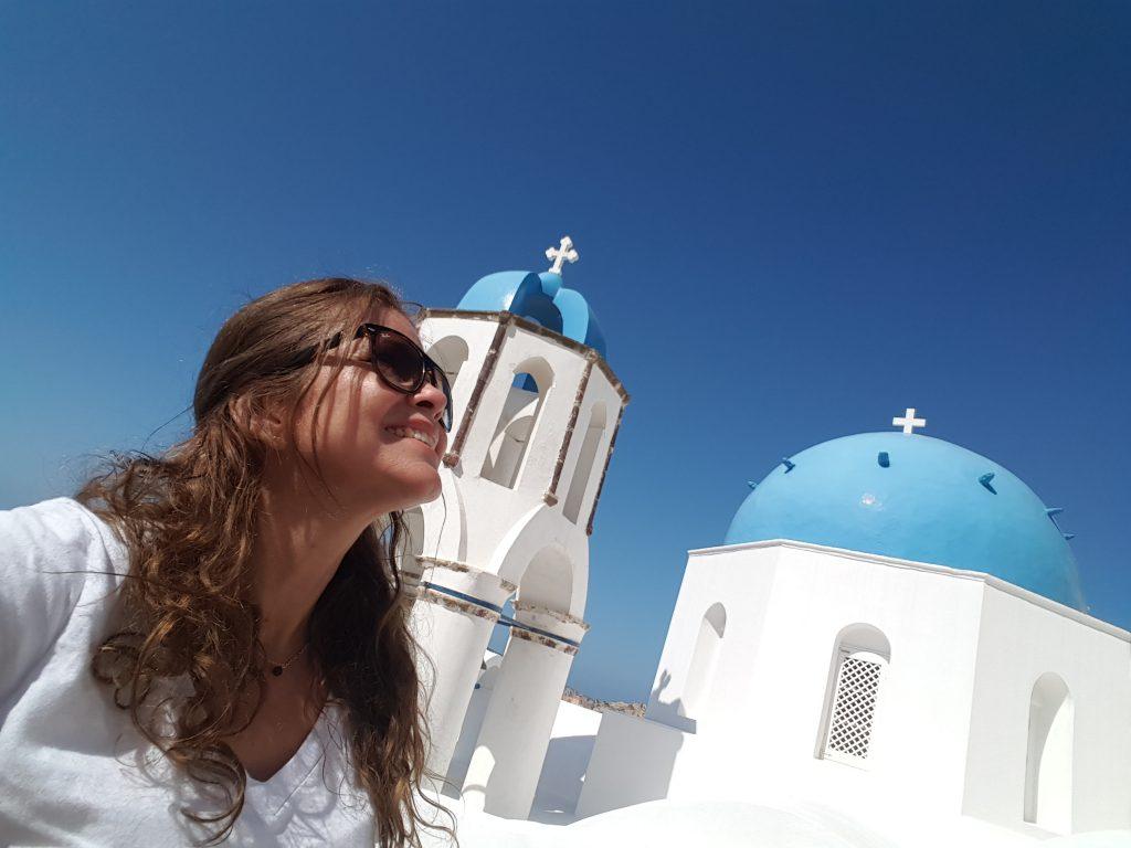 Uma Brasileira em Santorini