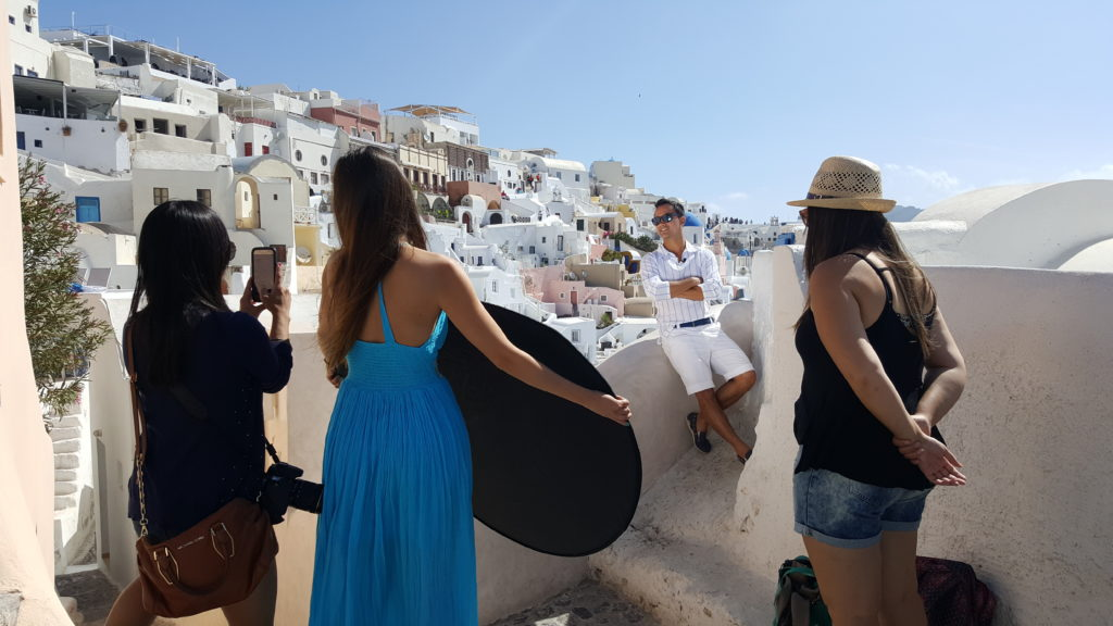 Bastidores do Programa Viagem Cultural em Santorini