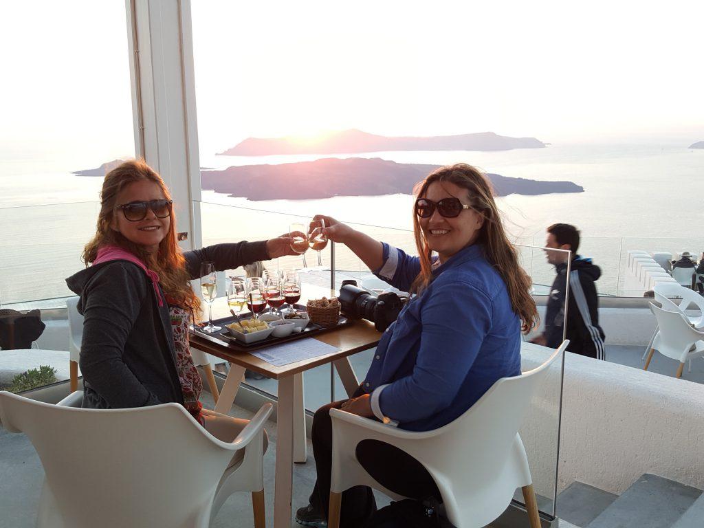 Degustação de vinhos em Santorini