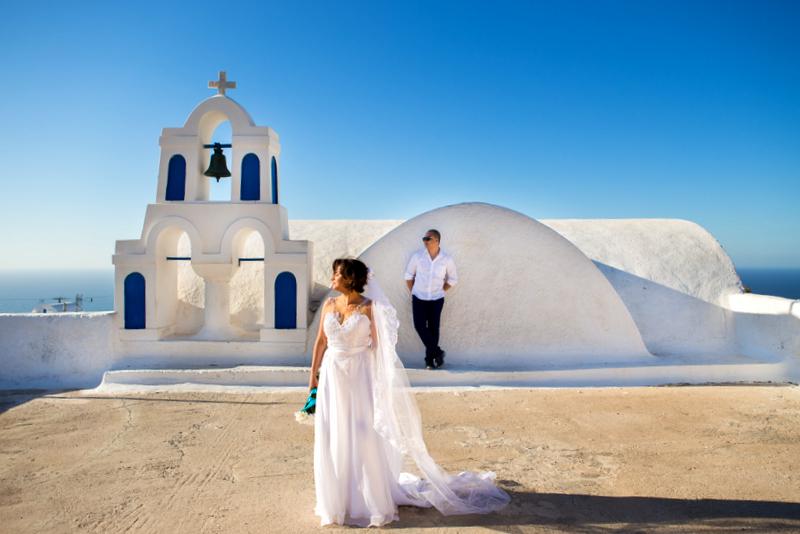 Ensaio fotográfico em Santorini