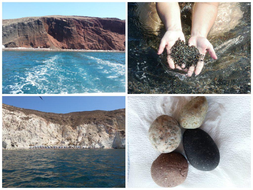 Praias Preta e Branca de Santorini